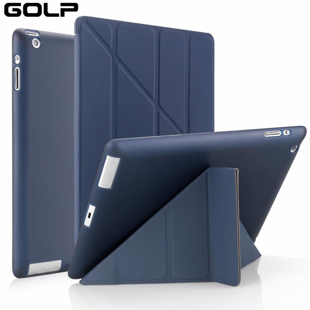 Чехол для iPad 9,7/10,2/10,5/10,9/11/, чехол GOLP для 7-го 8-го поколения, умный флип-чехол для iPad Mini 45, мягкий чехол-подставка из ТПУ чехол