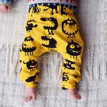 Pantalon sarouel en coton pour enfants   Pantalons pour bébés garçons et filles 0-3ans, nouveauté, pantalons amples pour enfants