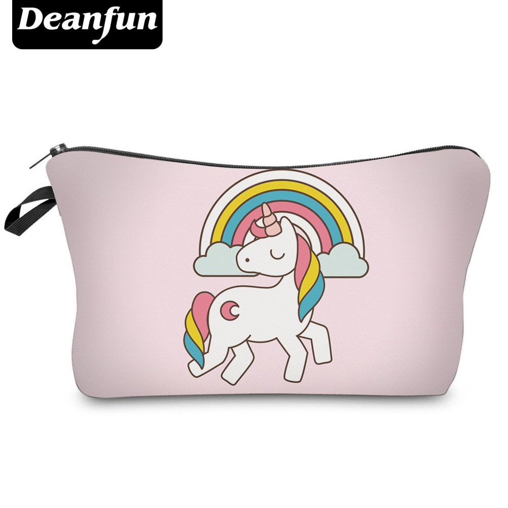 Deanfun Fashion Brand Unicorn Cosmetic Bags  New Fashion 3D Printed Women Travel Makeup Case H82