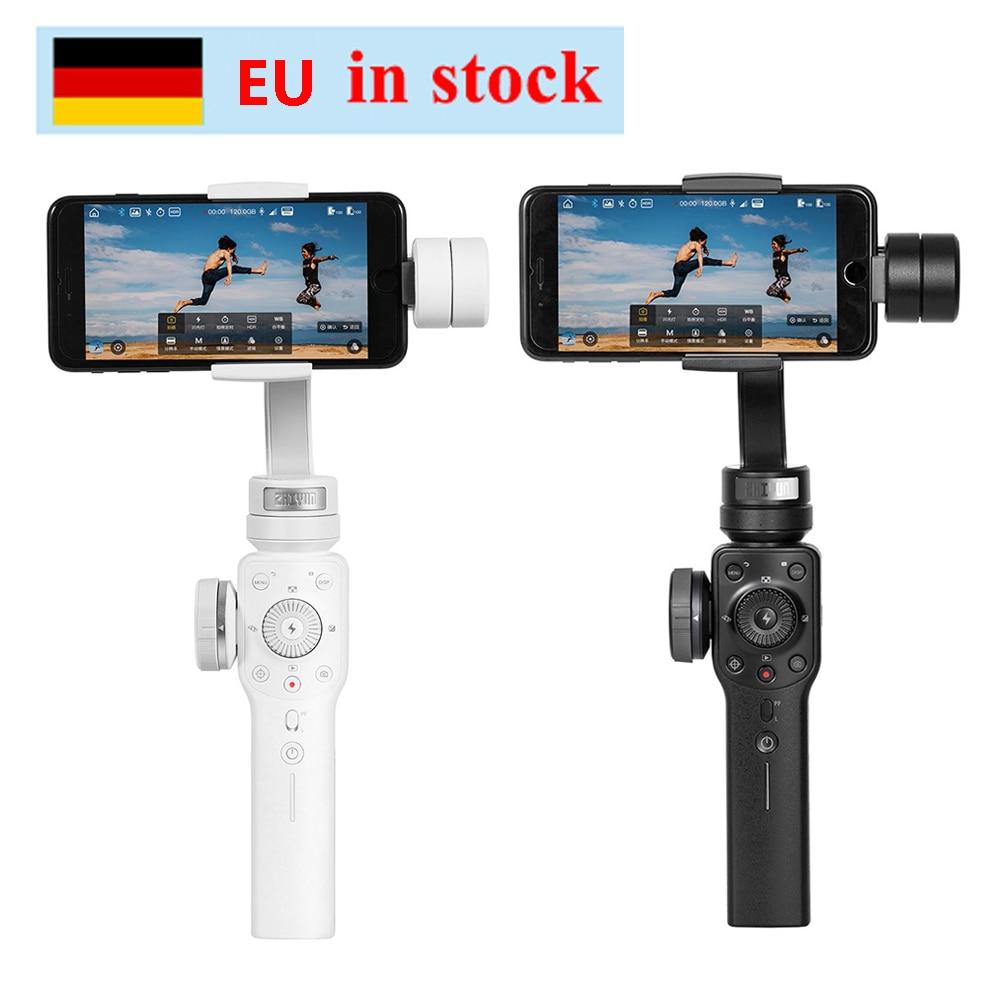 Zhiyun zhi yun suave 4 3 eixos foco pull & zoom capacidade handheld cardan estabilizador para iphone x 8 7 plus samsung s8 + s8