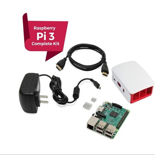 Raspberry Pi 3 COMPLETE Starter Kit, Black, Raspberry Pi3 Model B Barebones Computer Motherboard 64bit Quad-Core CPU 1GB RA