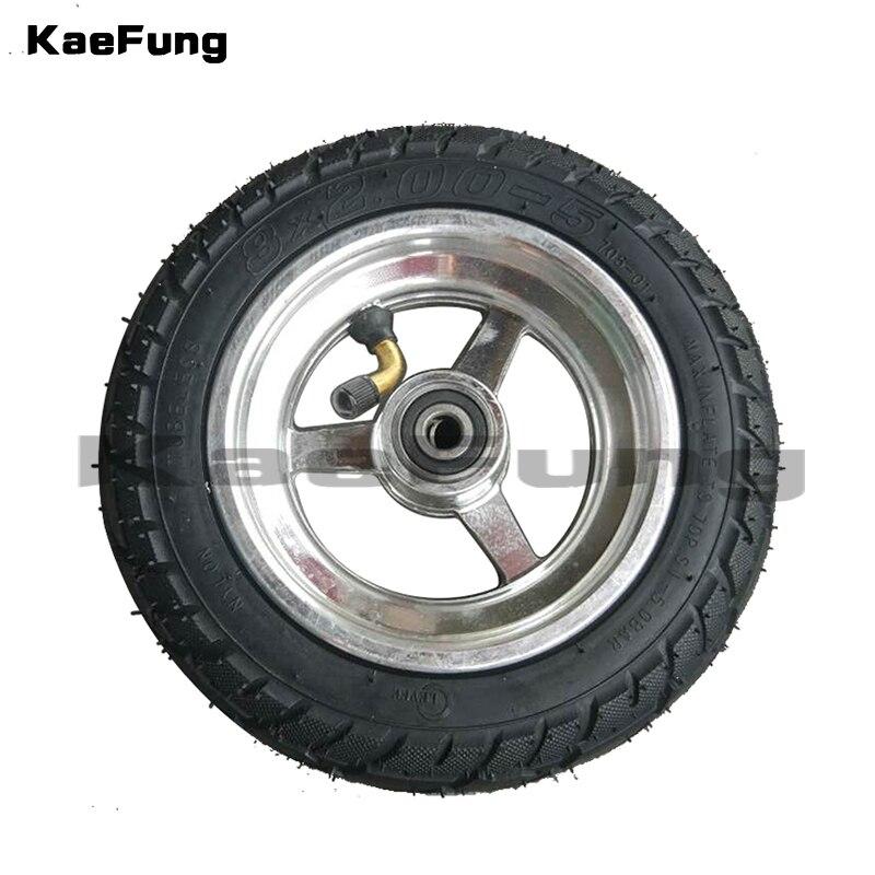 """8x2.00-5 roda de vácuo usando o cubo de metal 8 """"pneu pneumático csooter rodízio elétrico 8 Polegada gocart"""