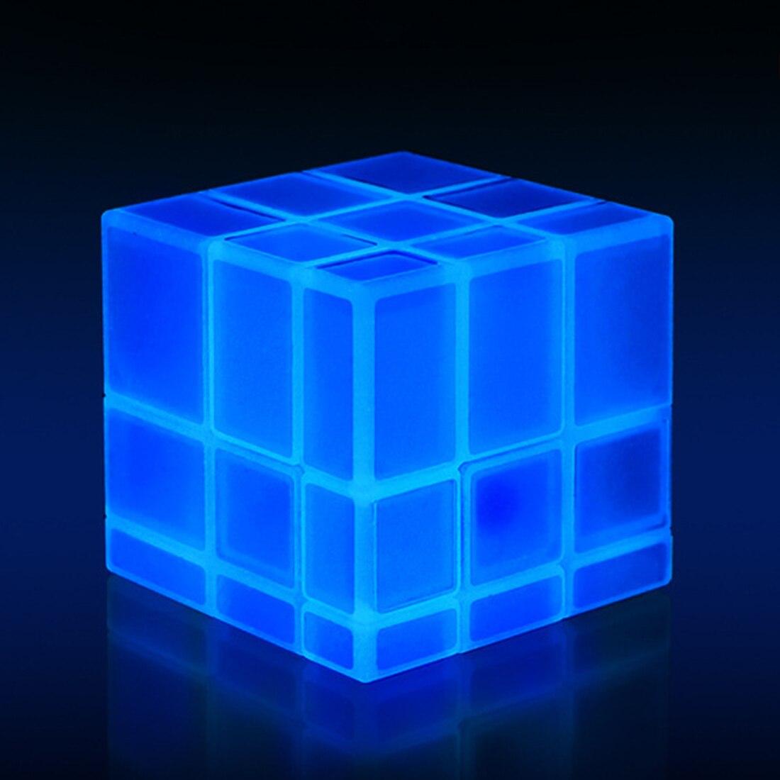 Зеркальные блоки QiYi 3X3X3, светящийся магический куб-головоломка, профессиональный обучающий и обучающий куб, Классические игрушки