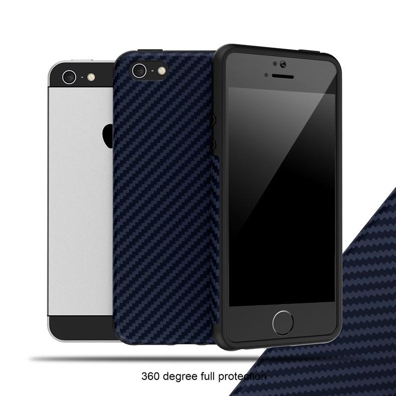 Luksusowe Elegent Wysokiej Jakości Włókna Węglowego Miękki Futerał Dla iPhone 5 5S SE Skórzana Skóry Tekstury Opon 3D Obrońca Pokrywa Dla iPhone SE 17