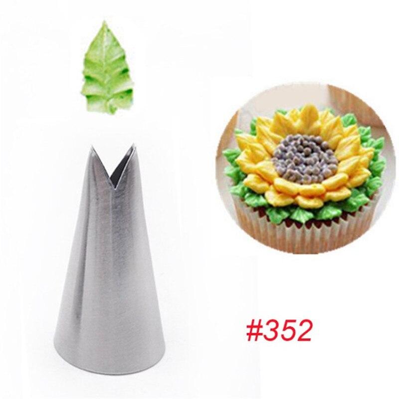 352 #1PCS Folhas NOVAS Dicas de Bicos Confeiteiro Piping Bicos Pastelaria Creme Cupcake Decoração Do Bolo Cozinhar Ferramentas