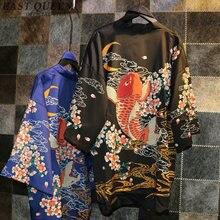 Kimono cardigan estilo verão kimonos senhoras novo design japonês quimono tradicional 2018 recém chegados japão kimono kk163