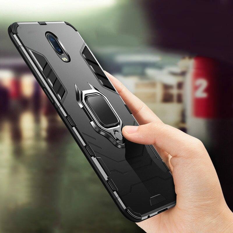 Funda de teléfono con soporte de anillo magnético para OPPO Realme 3 Reno Z F11 R17 Pro F9 R11S Plus R9S Plus AX5 Hybrid Armor 2 en 1