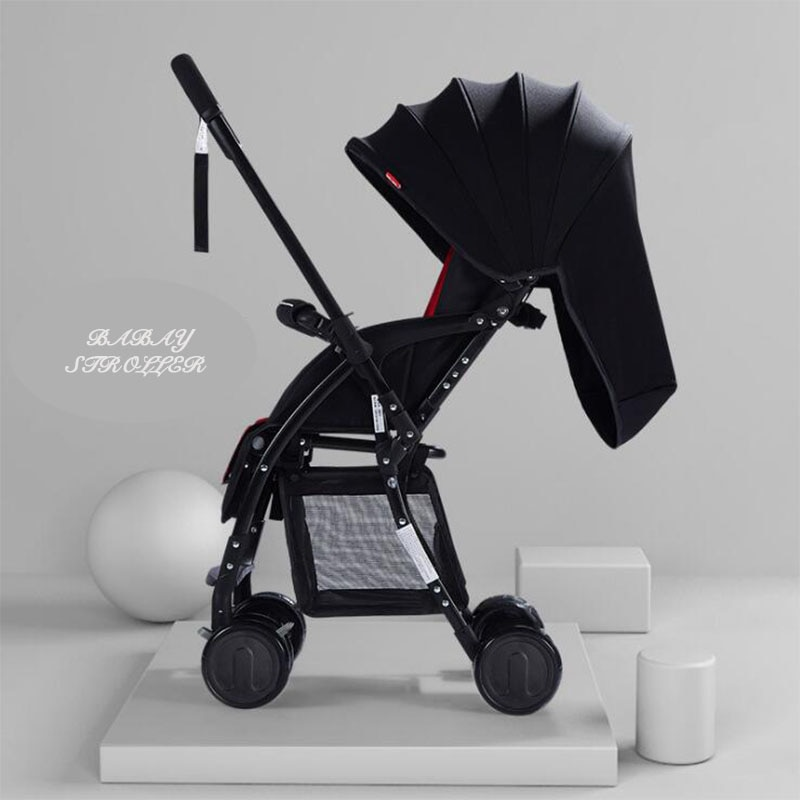 New Portable two-way high landscape light stroller four wheel breathable newborn stroller folding stroller