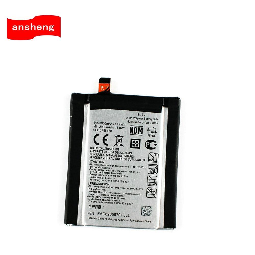 Alta Qualidade 3000 mah Bateria para LG G2 LS980 BL-T7 VS980 D800 D801 D802 BLT7 Celular