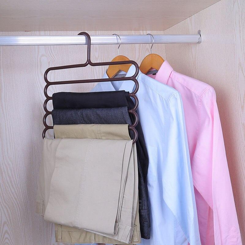 5-layer cabide multi-funcional cabides de roupas cremalheira de pano de armazenamento multicamadas cabide de pano de armazenamento de toalha de vestuário rack de armazenamento