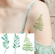 Цветные модные водонепроницаемые временные татуировки наклейки для женщин секс флэш поддельные татуировки хна синий цветок дерево XL66