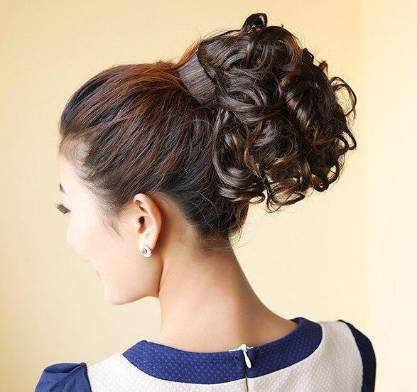 Soowee מתולתל קצר קוקו סינטטי שיער קוקו שיער להקת שיער הרחבות קטן פוני זנב שיער קליפים עבור נשים