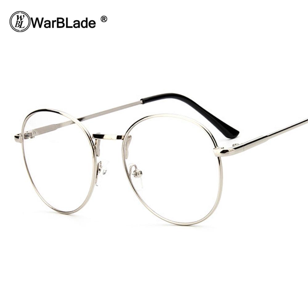 WarBLade Men Women Vintage Retro Round Frame Clear Lens Eyeglasses Unisex Glasses Clear Lens Glasses Nerd Spectacles Sunglasses