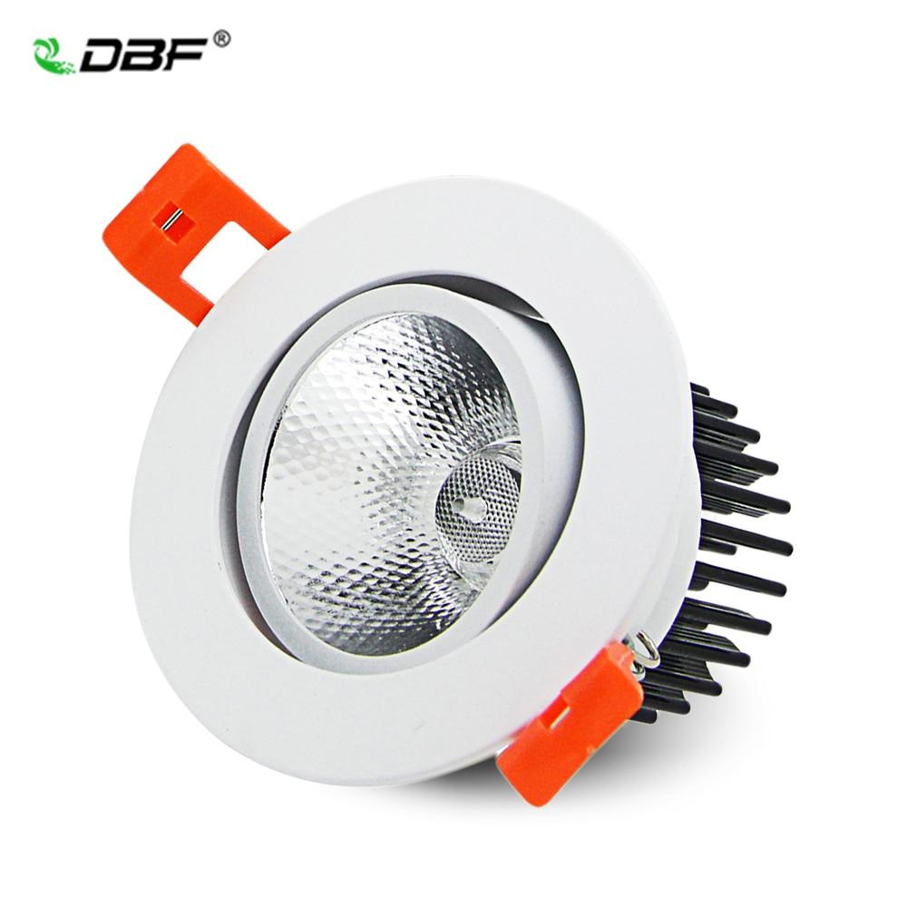 Epistar-foco empotrable para techo, luz ajustable, 7W/9W/12W/15W/18W, foco LED COB, regulable, 3000K/6000K,...