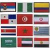 Colombia, Marruecos, Uruguay, Túnez, Serbia, Srbija, Costa Rica, Nigeria, Egipto, Arabia Saudita, Emiratos Árabes Unidos, Irán, Panamá, parches bordados en 3D