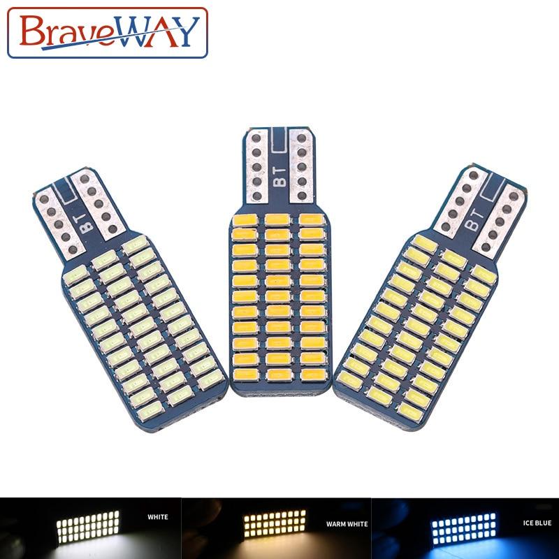 BraveWay T10 LED light bulb car CANBUS no error 12V 24V Super bright clearance bulb lamp white ice blue Reading Dome Car Door
