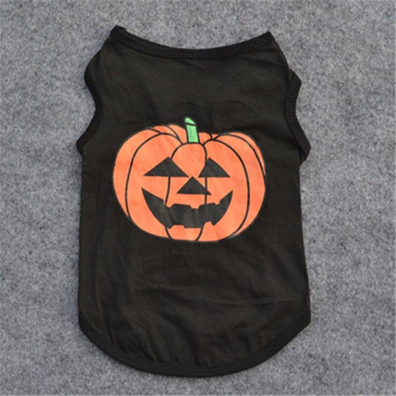 Ropa de perro de calabaza de Halloween barata ropa Cachorro bulldog Francés de algodón para mascotas ropa de perro chaleco Pug camiseta ropa Chihuahua