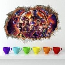Autocollants muraux les Avengers   3D, Super Heros, décoration de chambre denfant, Iron Man Raytheon, autocollants pour la maison, autocollants de films de dessins animés, affiche artistique