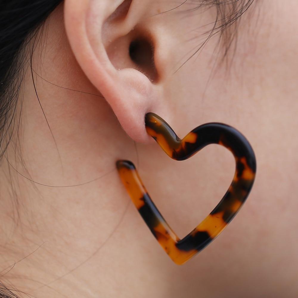 New Acetate ZA Resin Stud Earrings for Women Bohemian Fashion Statement Earrings Plastic Jewelry Gift