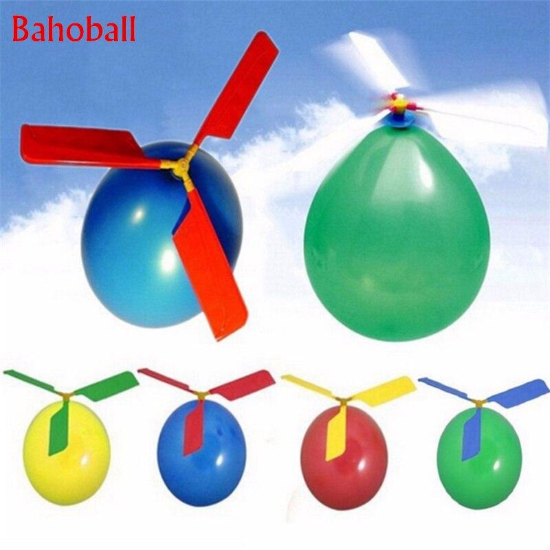 5 pçs helicóptero balão portátil ao ar livre jogando voando ballon brinquedo decorações da festa de aniversário crianças presente festa suprimentos globos