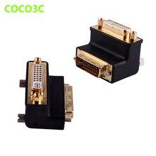 10.2 Gbps moniteur adaptateur AV câble dextension Angle connecteur droit DVI DVI Port convertisseur mâle Pin 24 + 5 à femelle