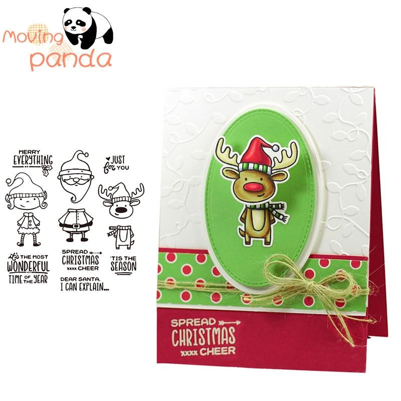 Santa & friends transparente claro sello de silicona/sello para DIY scrapbooking/álbum de fotos decorativo claro sello hojas