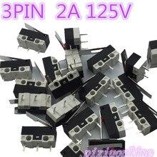 G70Y alta calidad 20 unids/lote 3PIN 2A 125V G70 Mini Interruptor táctil para luz para interruptor de ratón vender en una pérdida