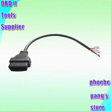 Adaptateur OBDII obd-ii 16 broches   Emballage de détail en gros, Plus Interface de Diagnostic de voiture OBD2 connecteur femelle 16pin pour ouvrir le câble OBD
