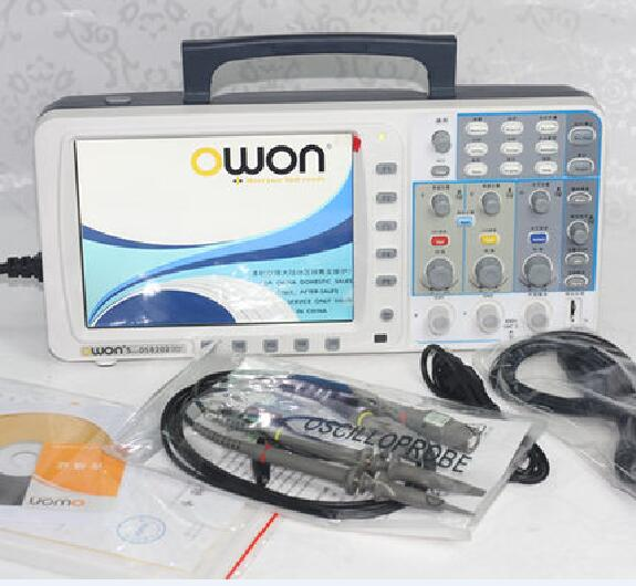 """Novos low-noise OWON SDS8202 8 """"HD TFT Digital Oscilloscope 200 mhz 2GS/s 10 m"""