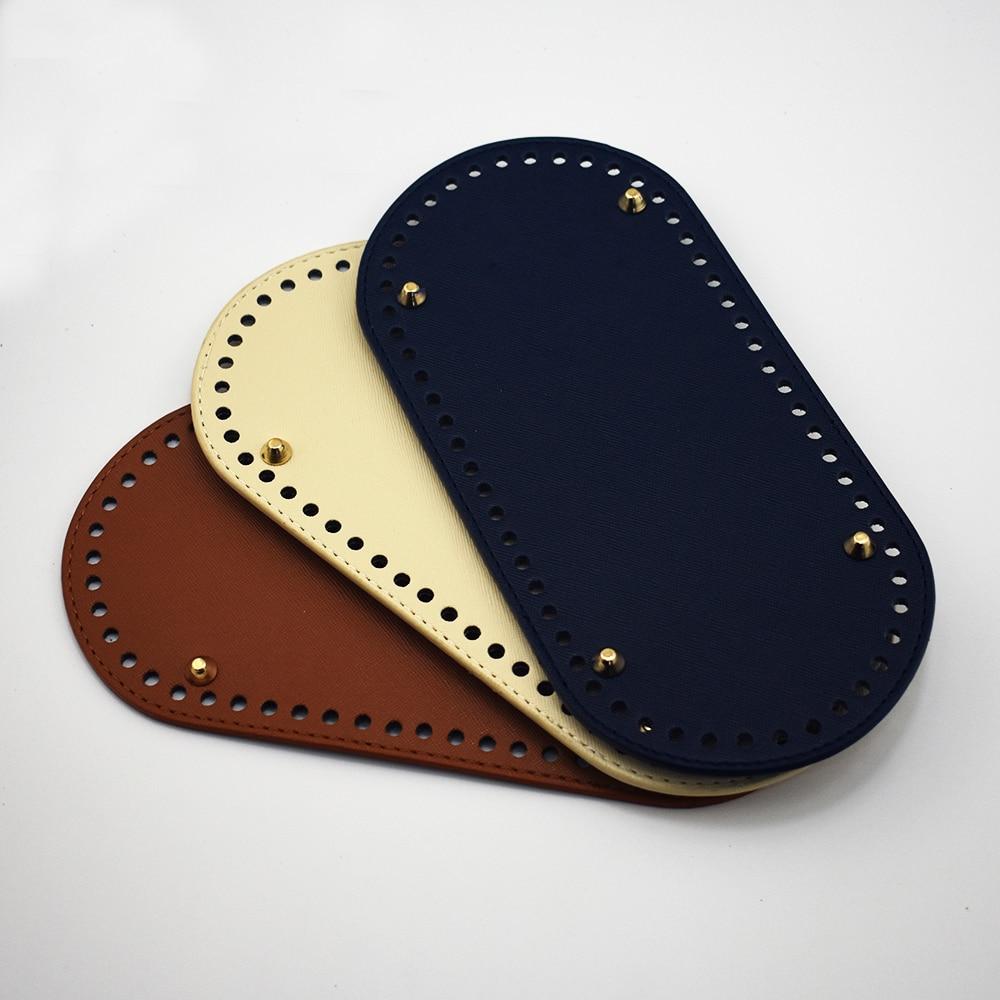 """9,84X4,72 """"Tasche Böden Mode DIY Handgemachte Bunte Oval Tasche zubehör für Schwarz Braun Blau Grau handtasche Crossbody taschen Untere"""