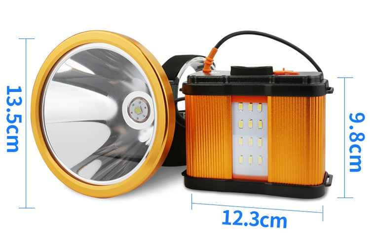 Superbright cree p50 led usb rechargeable headlamp highpower searchlight flashlight for fishing hunting  camping enlarge