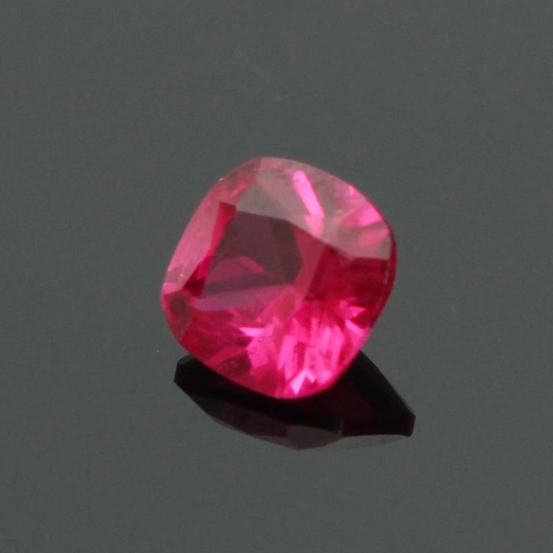 Venta al por mayor 1 unidad 5 MM rubí cojín con corte cuadrado Natural piedra preciosa AAA para DIY joyería COLLAR COLGANTE anillos Fabricación de pendientes artesanales
