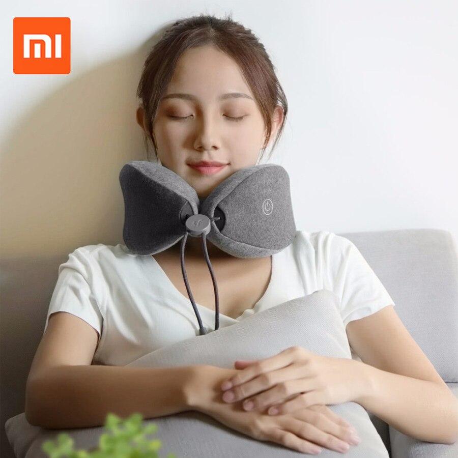 Mais novo original xiaomi mijia lf pescoço massageador travesseiro pescoço relaxar terapia muscular massageador sono travesseiro para escritório casa e viagem