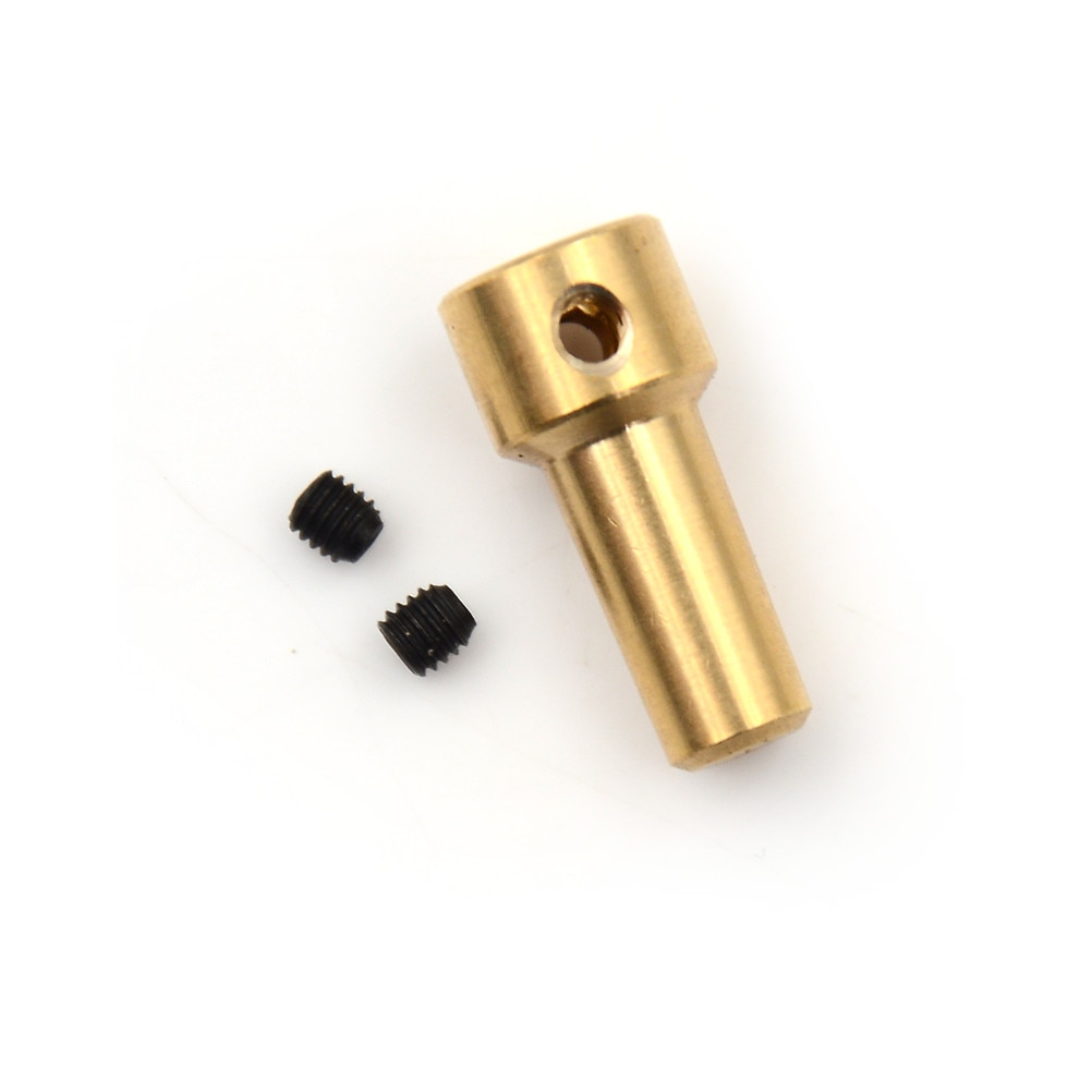 1 Uds latón del eje del Motor de la abrazadera de mandril de taladro eléctrico JT0 Motor de acoplamiento del eje abrazadera del acoplador 2,3mm