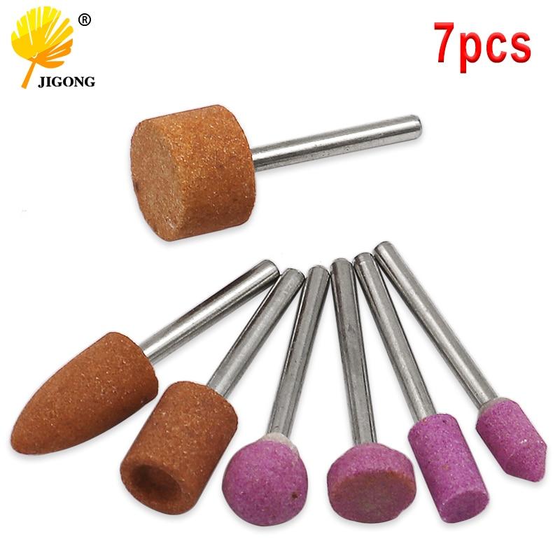 سنگ نصب شده ساینده 7pcs / set برای ابزار چرخشی Dremel ، سنگ زنی ، سر چرخ ، لوازم جانبی ابزار Dremel