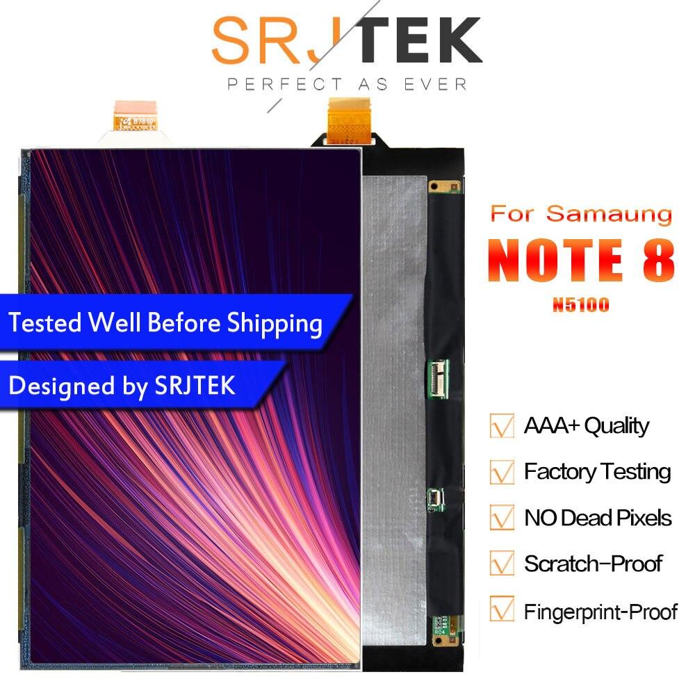 Srjtek 8 pulgadas para Samsung Galaxy Note 8 GT-N5100 N5100 LCD pantalla LCD Matrix Tablet piezas de repuesto de alta calidad