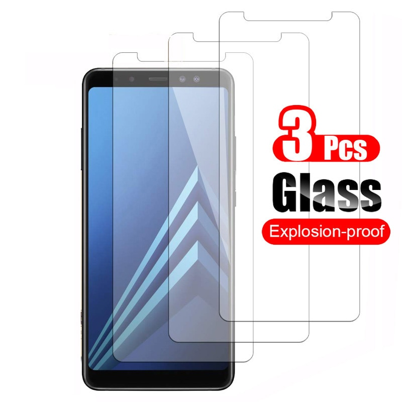 3Pcs Tempered Glass For Samsung Galaxy A8 A8+ Plus 2018 Screen Protector Protective Film 9H Anti-scr