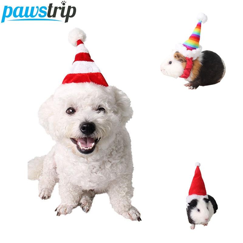 Pawstrip Fashion Christmas Dog Hat Small Animal Rabbit Hamster Guinea Pig Caps Winter Cat Costume