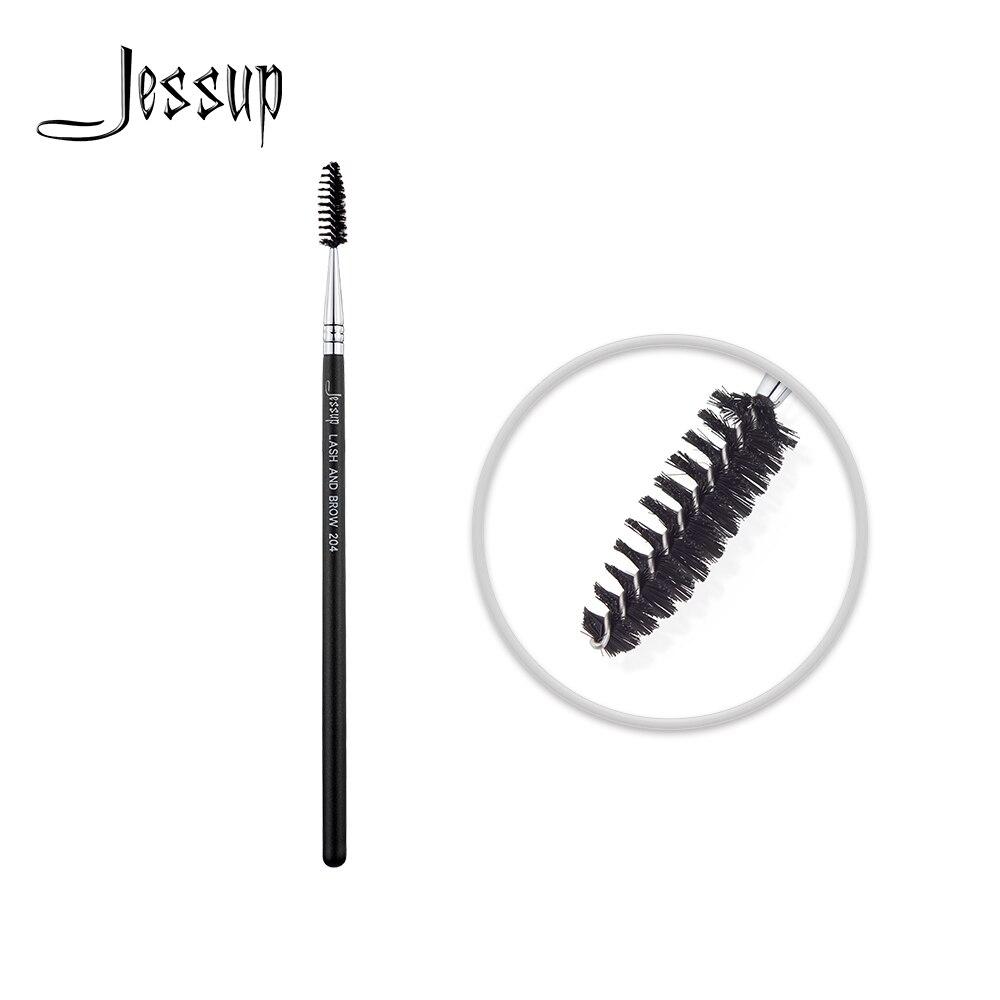 Jessup brocha de maquillaje para sombras pestañas pelo sintético mango de madera 204