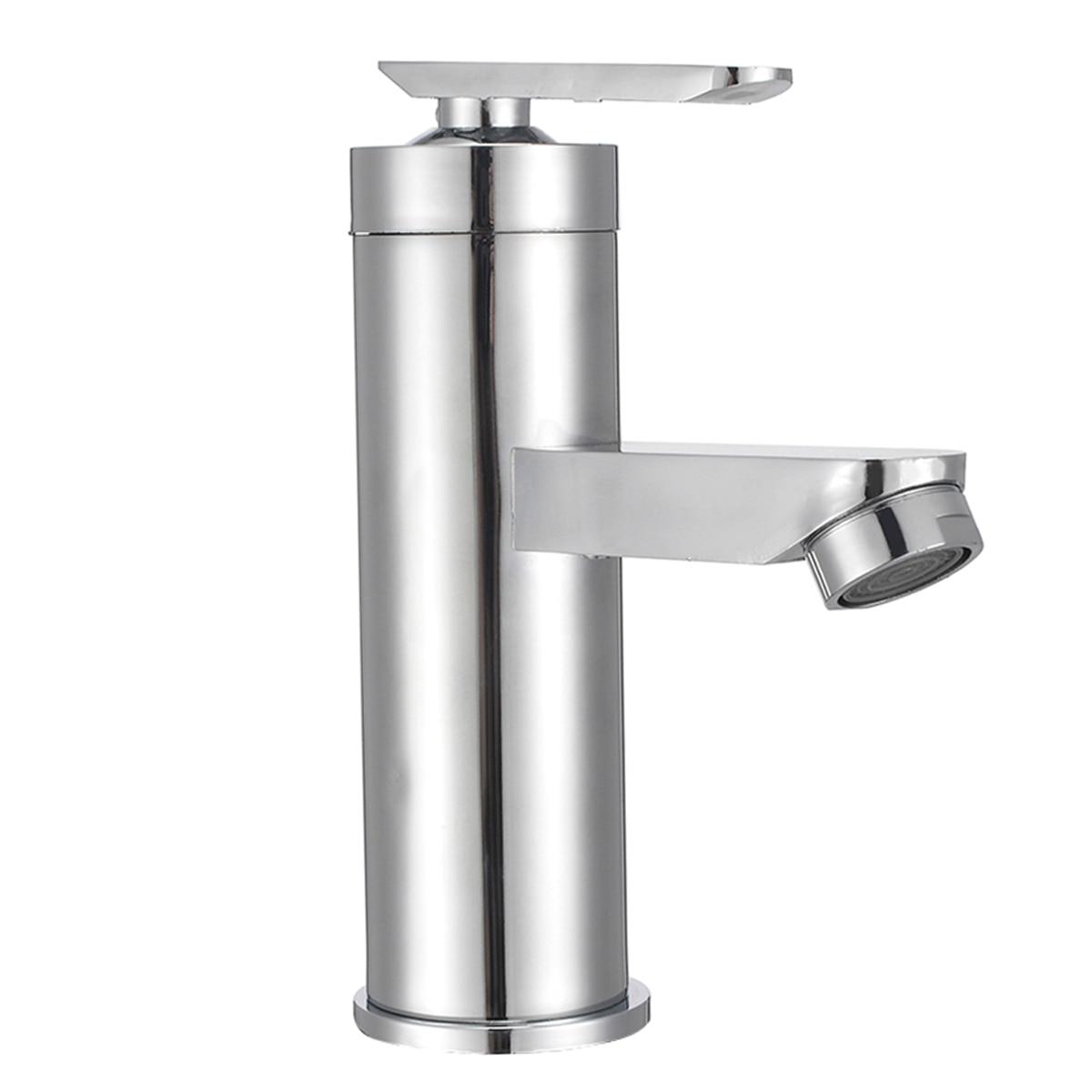 Grifos de lavabo Mayitr, grifo de baño de cascada, grifo mezclador de una manija cromado, grúa de agua del fregadero de baño para accesorios de baño