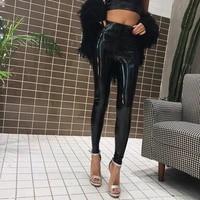legging feminina sale 2020 spring new patent leather bright color sexy wild body bag hip plus velvet high waist leggings female
