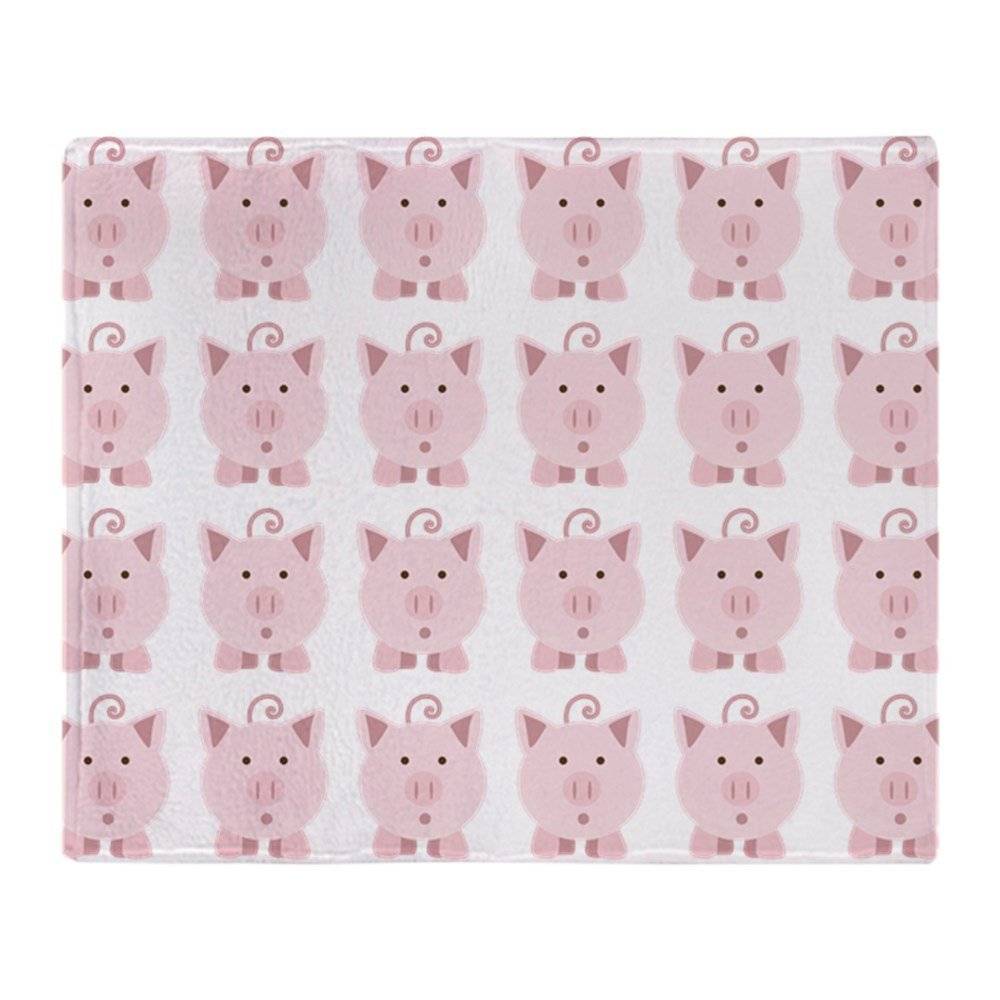 Cute Round Pink Pigs Soft Fleece Throw Blanket Air/Sofa/Bedding Soft Winter Bedsheet