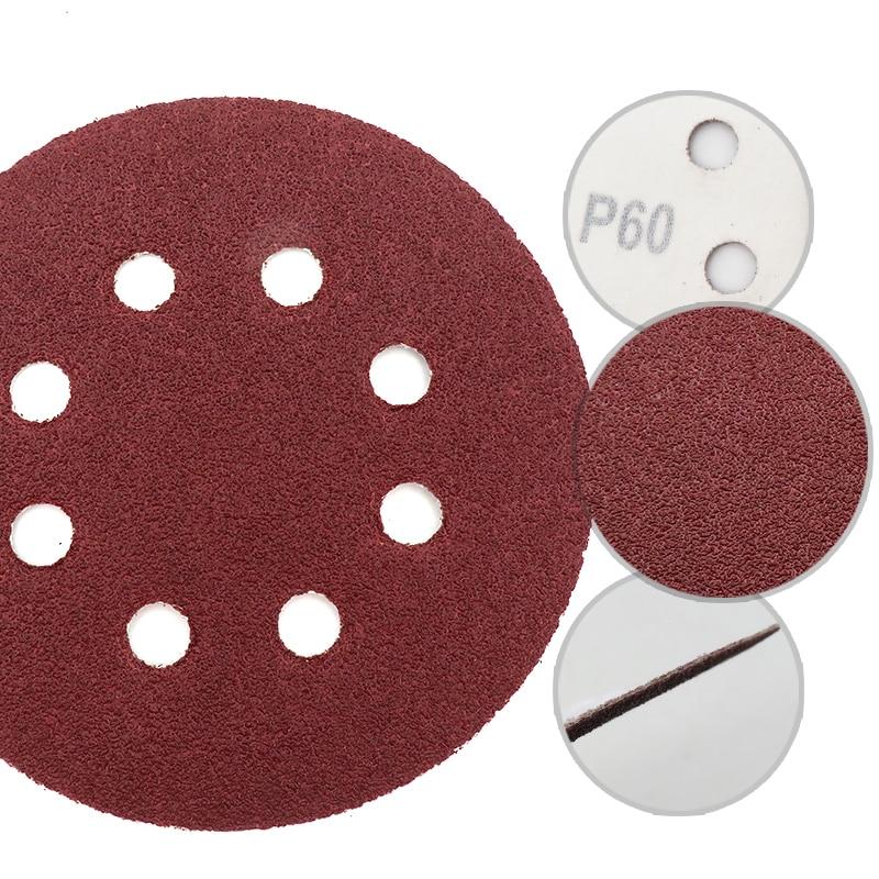 10 piezas 5 pulgadas 125 mm 8 agujeros 60-1200 granos de forma - Herramientas abrasivas - foto 2
