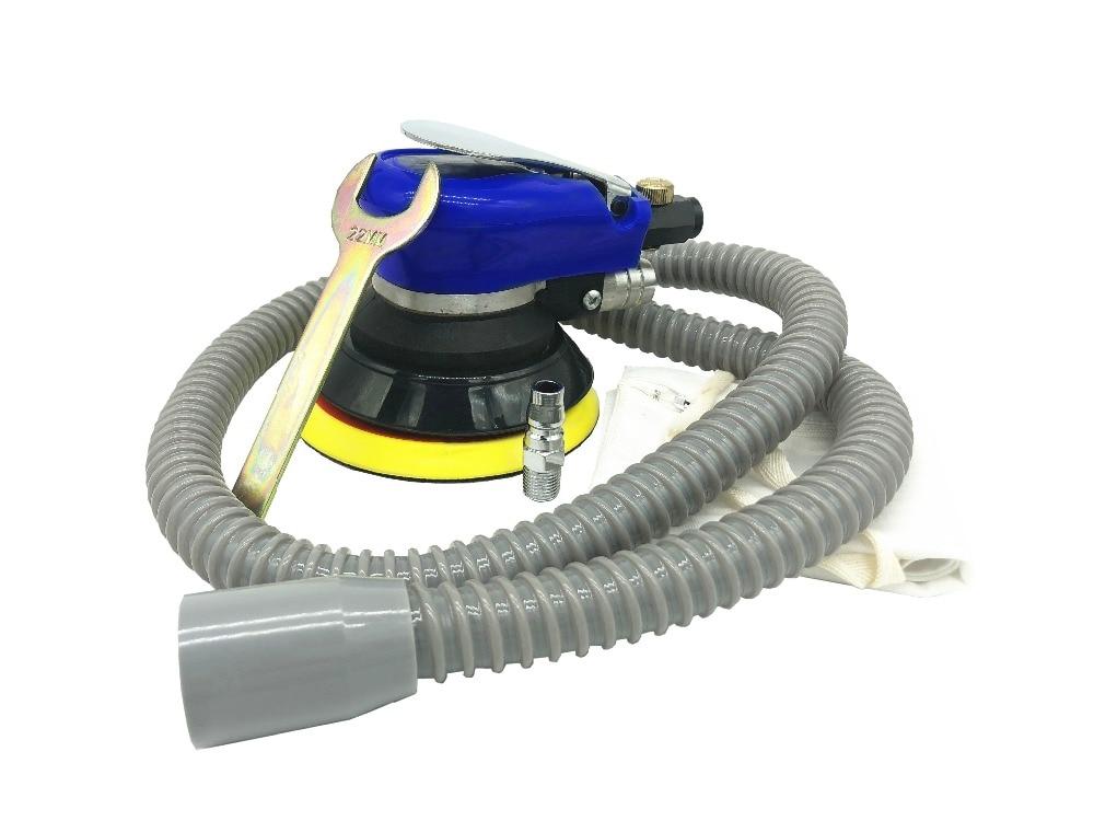Milda 5 Inch Random Orbital Air For Palm pneumatic Sander Car Polisher Vacuum Cleaner Set Tool Polishing Machine Power Tools