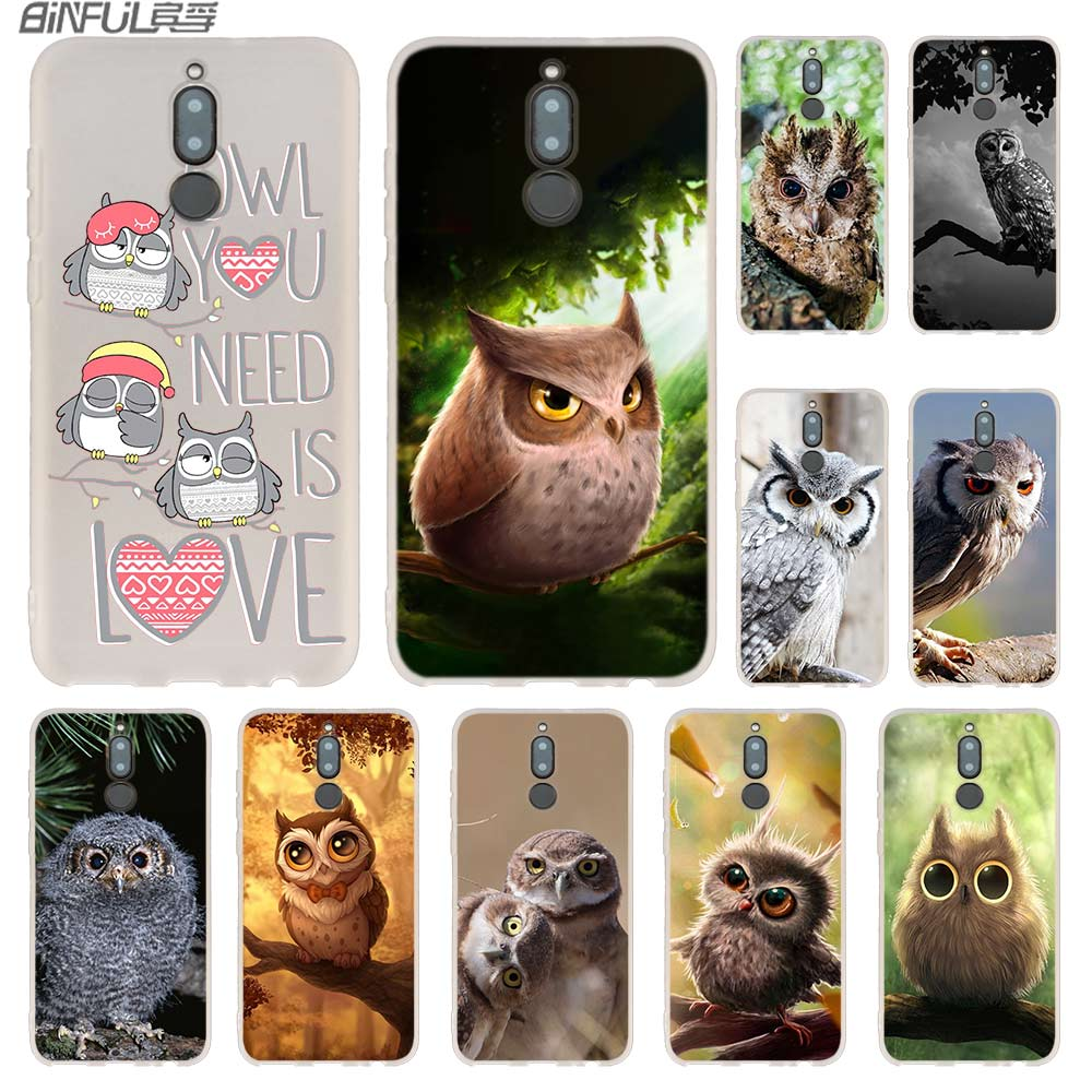 Fundas de teléfono con bonito gato búho Animal para Huawei Mate 30 20 10 Lite Pro suave funda de silicona Y9 2019 2018 Nova 5T 5i 4 5 Pro