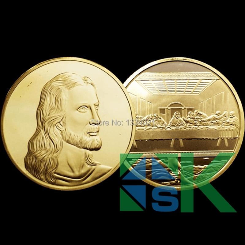 The Last Supper Coin, Jesus Collection coin Famous-Artist-da-vinci 100 unids/lote