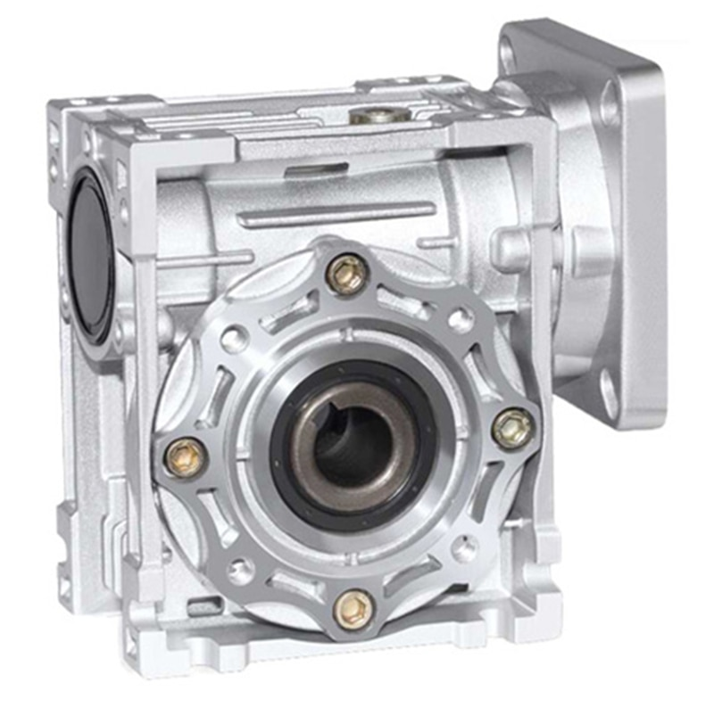 NMRV040 86 مللي متر دودة والعتاد المخفض نسبة التخفيض 5:1 إلى 100:1 ل NEMA34 محرك متدرج 14 مللي متر رمح