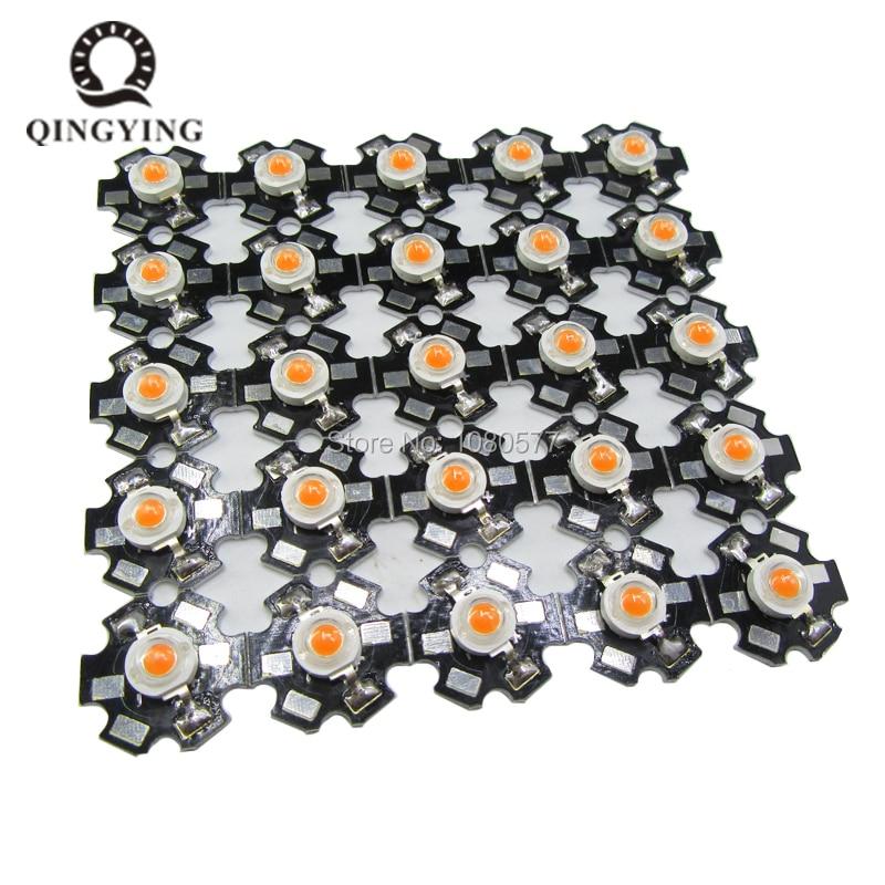 Chip de LEDs de diodo emisor de luz 25 uds 3W Cree de alta potencia con estrella de aluminio PCB blanco cálido blanco frío rojo verde azul amarillo