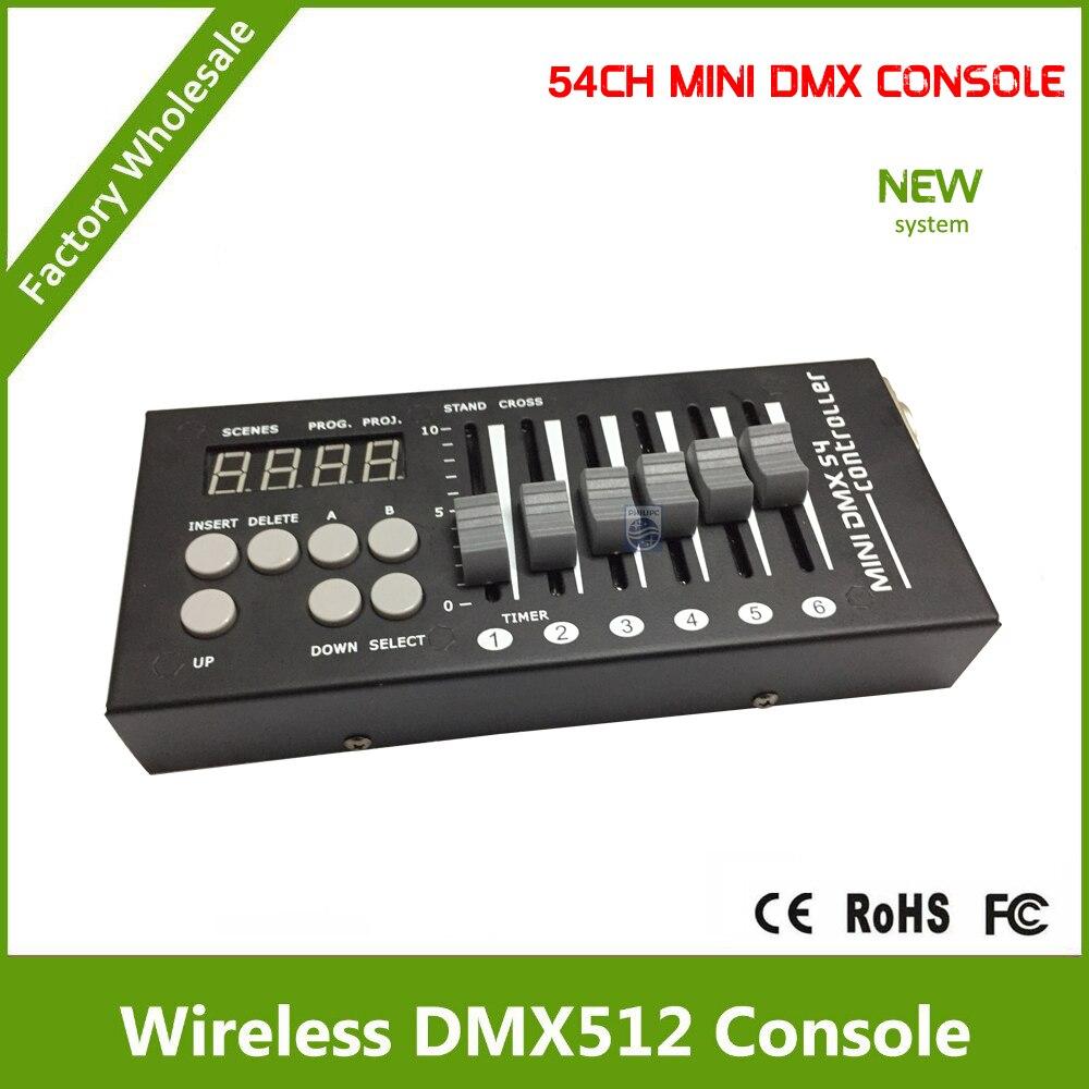 dj discoteca casa ktv mini controle dmx com 9 programas 6 faders por 9 paginas