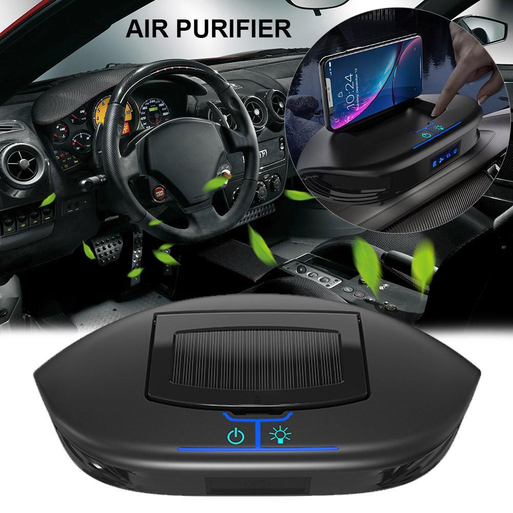 Q5 Solar Mobile Phone Holder Car Air Purifier Multifunctional 3 In 1 Air Freshener